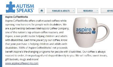 Autism Speaks Features Aspire CoffeeWorks Holiday Gifts